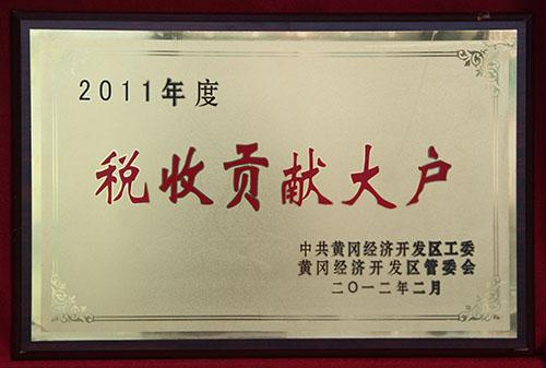 2011年度税收贡献大户