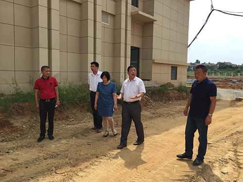 市委书记和张副市长到黄冈市委党校项目视察
